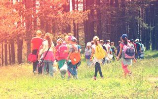 kids in field